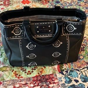 Kate Spade black button satchel